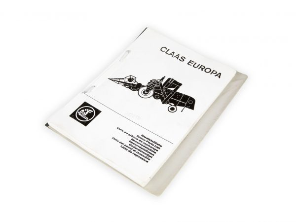0001772130 Claas Каталог запчастей Europa