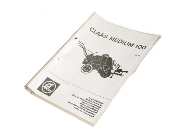 0001772260 Claas Каталог запчастей Medium 100
